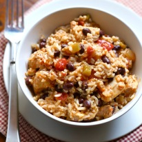 Pressure-Cooker-Chicken-Black-Bean-and-Rice-Burrito-Bowls-Recipe-Square-Photo